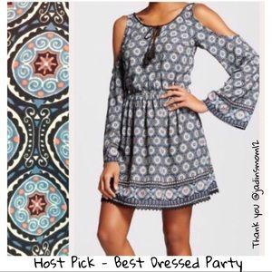 🎉HP🎉 Xhilaration | Boho Cold-Shoulder Dress